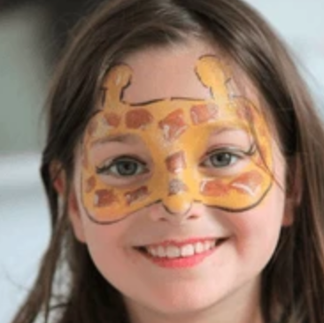 Easy Giraffe Face Paint Video Tutorial by Kiki