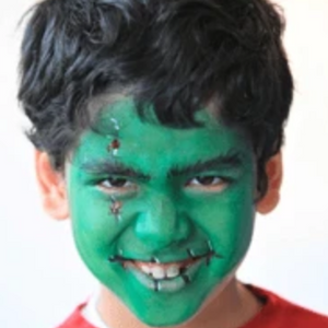 Easy Frankenstein Monster Face Paint Design Tutorial Video by Kiki