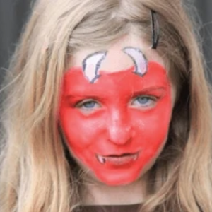 Easy Devil Face Paint Video Tutorial by Kiki
