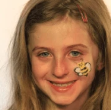 Easy Bumble Bee Face Paint Design Tutorial Video by Kiki