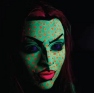Video: Blacklight Pop Art Face Paint Design Tutorial