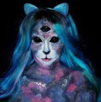Space Cat Face Paint Video by Ana Cedoviste