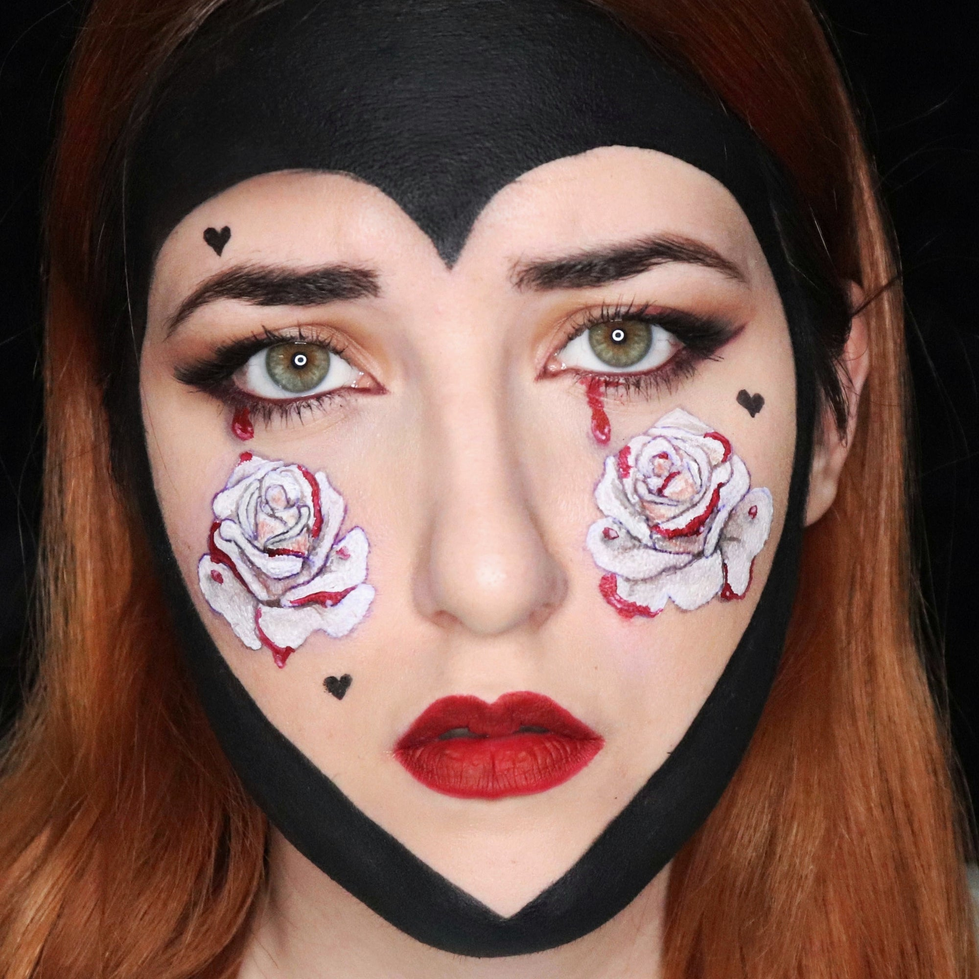 Valentine's Day Face Paint - Queen of Hearts by Ana Cedoviste