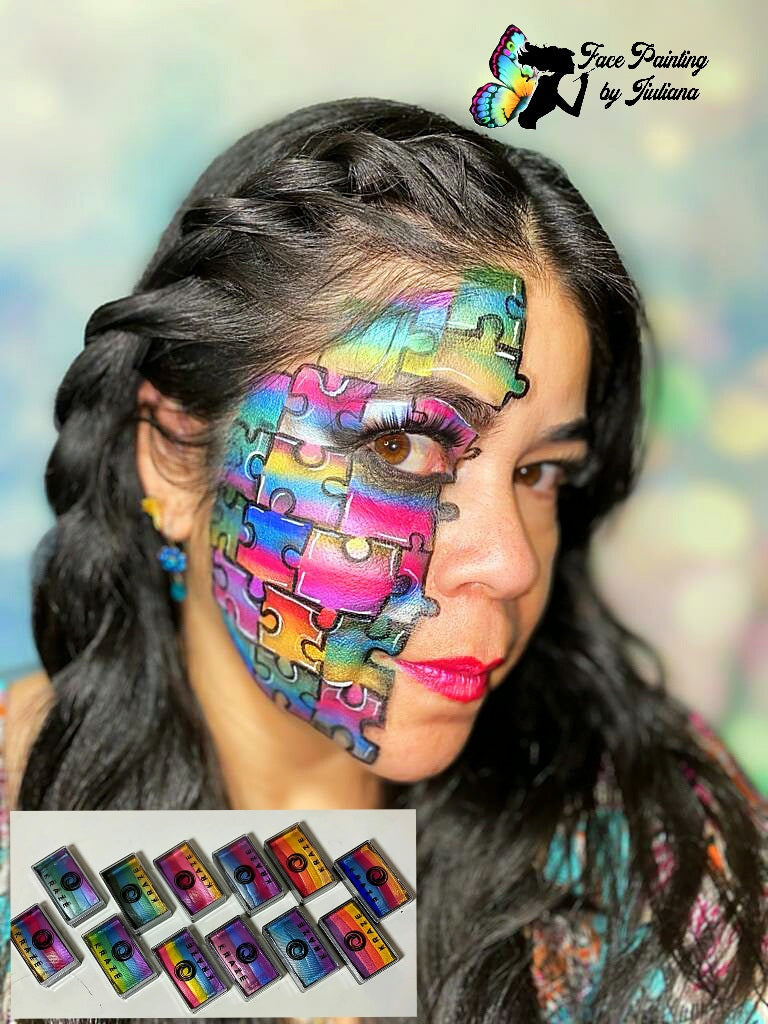 Face Paint Weekly Kraze FX Dome Strokes Kit Giveaway Winners for July 2020