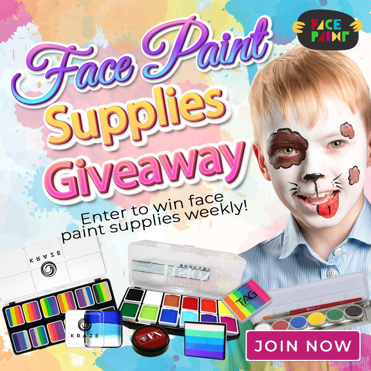 Face Paint Supplies Giveaway Winners for June 2020