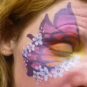 Tutorial: Sunset Flowers Butterfly Eye