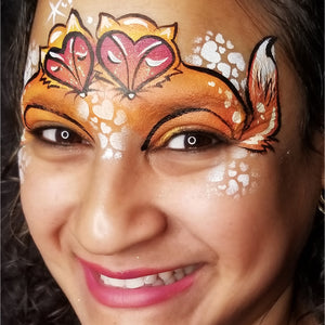 Using Kraze Dome Strokes - Fox Face Paint Design by Kellie Burrus