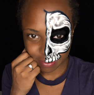 Skull Face Paint Design by Zuri Fx