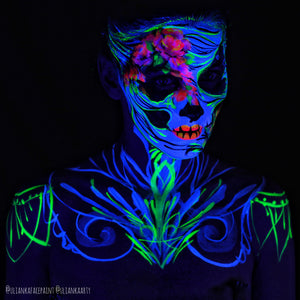 Glow in the Dark Calavera Face Paint Design by Ulianka