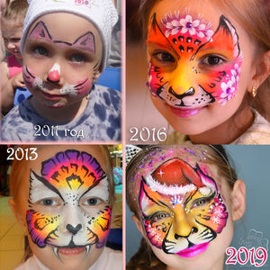 "Facepainting ""Then and Now!"" by Natalia Kirillova"