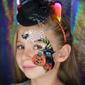 Easy Pumpkin Face Paint Design - Tutorials & Videos