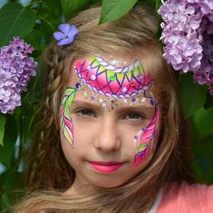 Bright Dream Catcher Face Paint by Natalia Kirillova