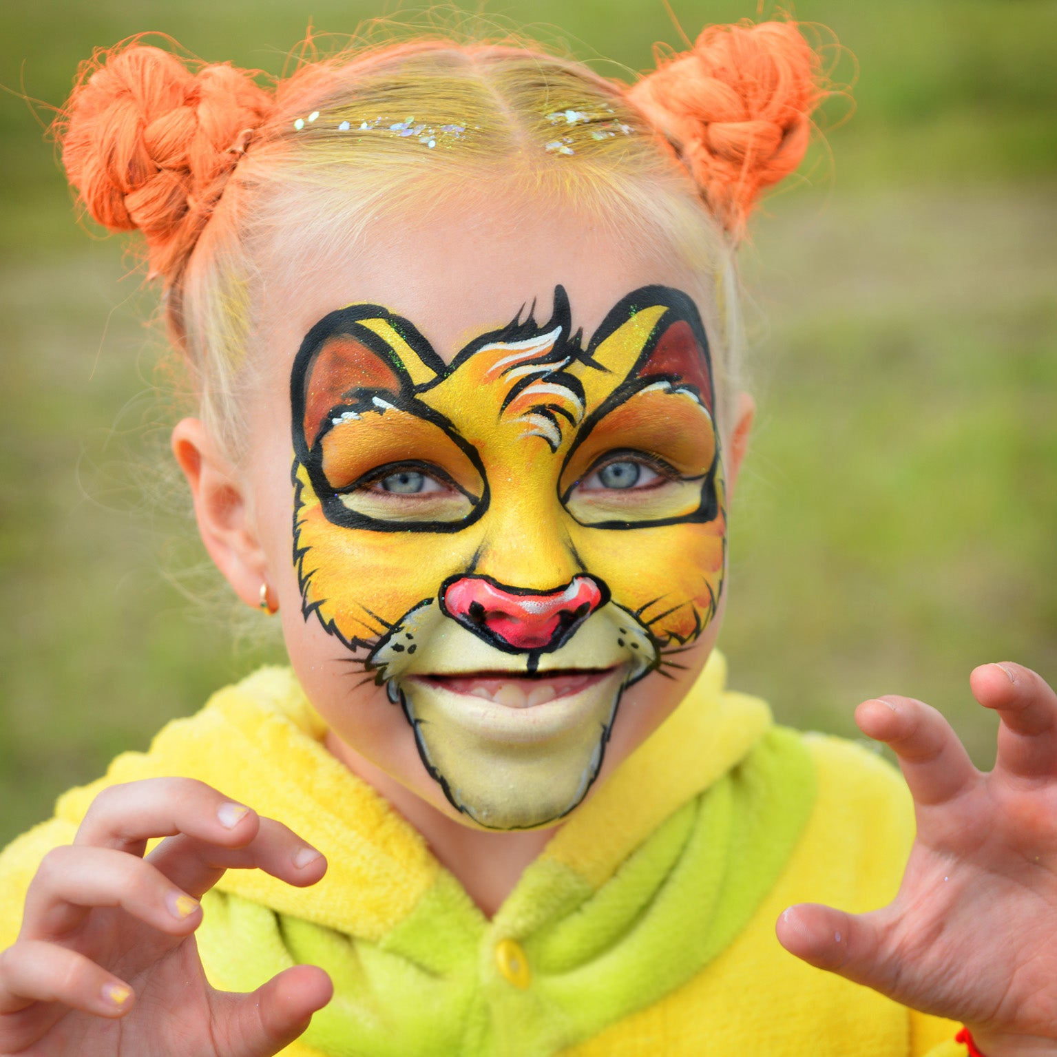 Lion King Simba Face Paint by Natalia Kirillova
