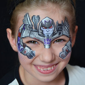 Transformers Megatron Face Paint by Natalia Kirillova