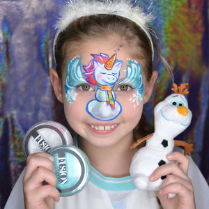 Unicorn Snowman Face Paint Mask by Natalia Kirillova
