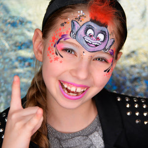 Trolls Movie Face Paint Design by Natalia Kirillova