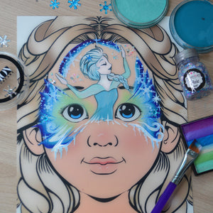 Frozen 2 Mask Face Paint by Natalia Kirillova