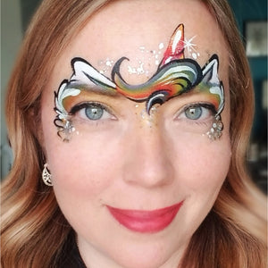 Using Kraze Dome Strokes: Unicorn Face Paint Design by Kellie Burrus