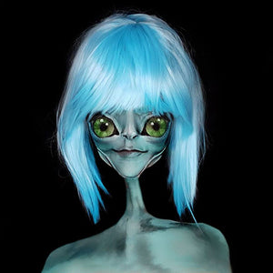 Alien Illusion Face Paint Video by Ana Cedoviste