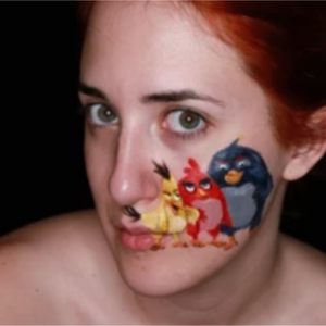Angry Birds Face Paint Video by Ana Cedoviste