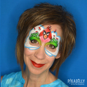 Angry Birds Mask Paint by Pam Kinneberg