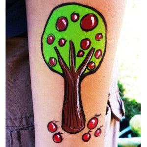 How to Face Paint an Apple Tree