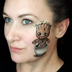 Dancing Groot Cheek Art by Marina