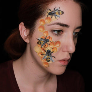 Bee Face Paint Design Video by Ana Cedoviste
