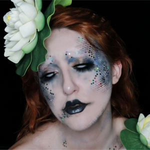 Lake Mermaid Face Paint Design Video by Ana Cedoviste