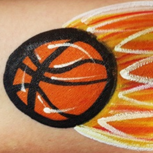 How to Face Paint a Basketball on Fire!