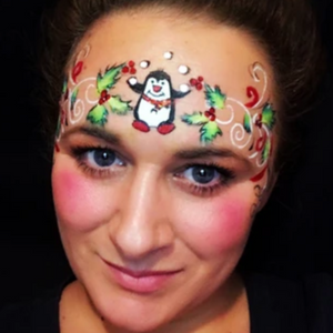 Winter Crown Face Painting Design by Marina