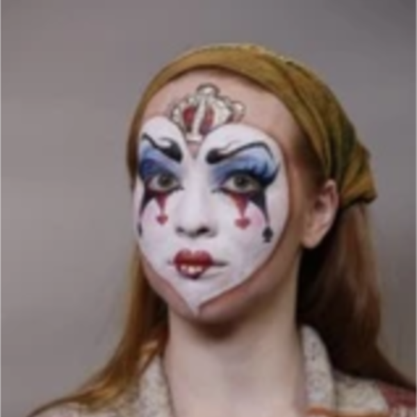 Queen of Hearts Face Paint Design Video Tutorial by Athena Zhe