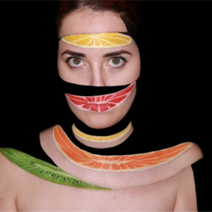 Sliced Fruit Face Paint Design Video by Ana Cedoviste