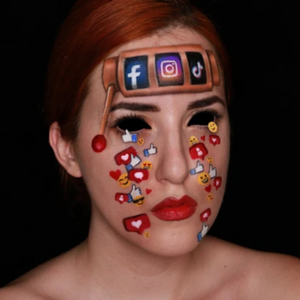 Social Media Addiction Face Paint Video by Ana Cedoviste