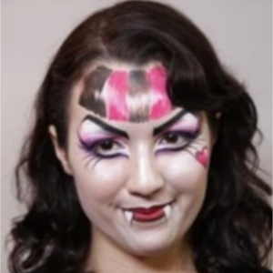 Monster High Face Paint Design Video Tutorial by Athena Zhe