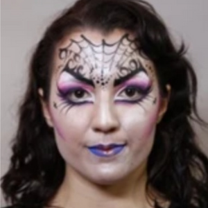 Goth Face Paint Design Video Tutorial by Athena Zhe