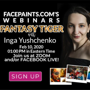 Webinar: How to Face Paint Fantasy Tigers With Inga Yushchen