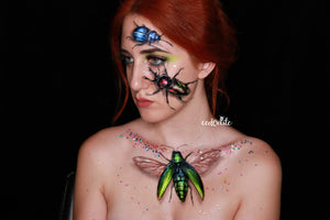Bugs Face Paint Design Video by Ana Cedoviste