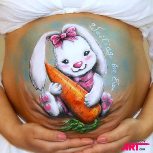 "Belly Painting ""Bunny"" by Olga Murasev"