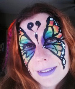 How to face paint a Rainbow Butterfly