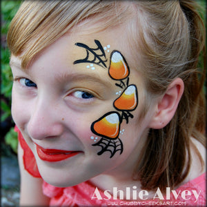 Candy Corn Cheek Art Video by Artist Ashlie Alvey