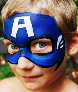 How to face paint Captain America!
