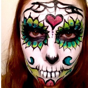How to do Sugar Skull Makeup With Face and Body Paints