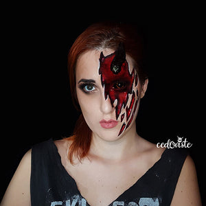 Half Face Devil Face Paint Video by Ana Cedoviste