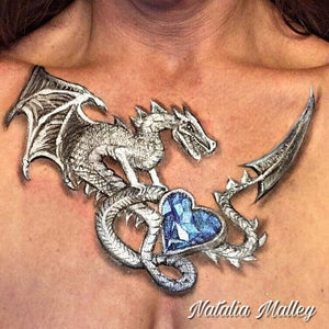 Jeweled Dragon Décolletage Necklace design by Natalia Malley