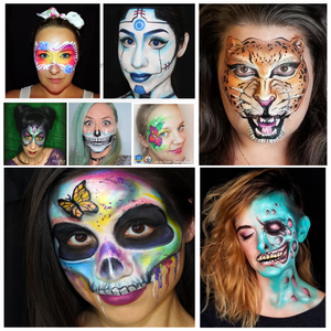 30 Quick & Easy Face Paint Ideas for Adults: Tutorials & Videos