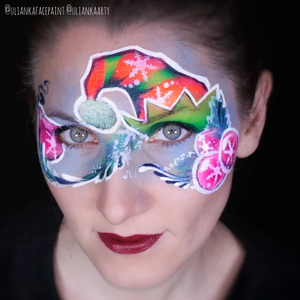 Elf Hat Face Paint Design by Ulianka Arty