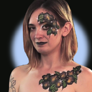 Black Pansies Face Paint Video Tutorial by Kellie Burrus