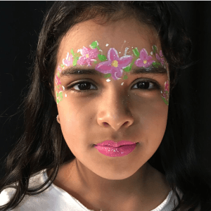 Flower Princess Face Paint Design Tutorial by Kiki