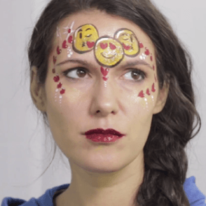 Emojis Love Mask Design Video by Shelley Wapniak